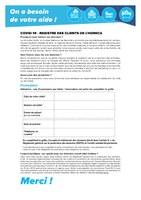 Coronavirus 25/07 : Registre des clients de l'horeca